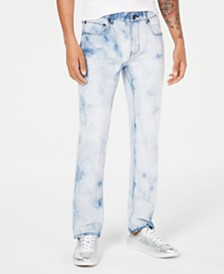 I.N.C. Men's Slim-Straight Fit Bleached Jeans, Created for Macy's