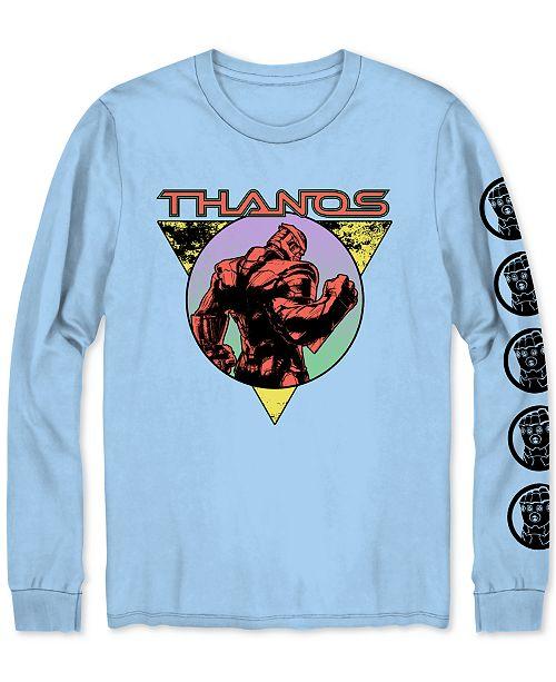 Hybrid Long-Sleeve Thanos Men's Graphic T-Shirt