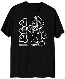Hybrid Men's Mario Outline Graphic T-Shirt
