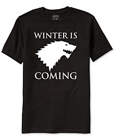 Game of Thrones Winter Is Coming Men's Graphic T-Shirt
