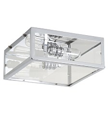 JONATHAN Y Grayson Metal/Glass LED Flush Mount