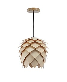 Simon Pinecone Wood LED Pendant