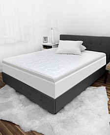 "Luxury iCOOL 3"" Gel-Infused Memory Foam Queen Mattress Topper"