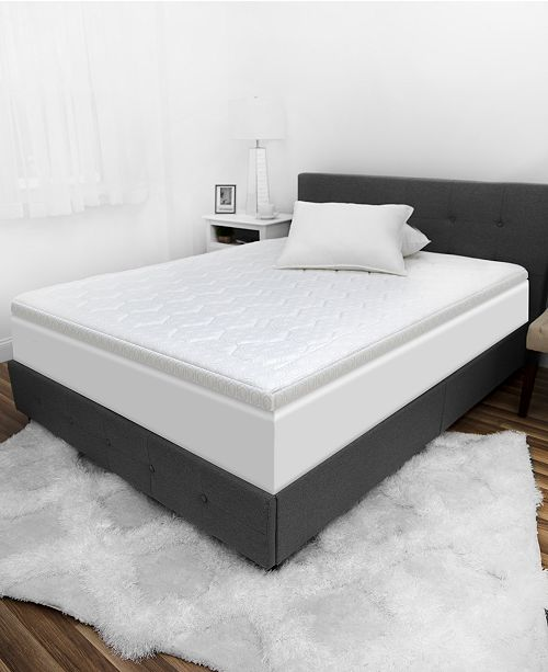 Memory Foam Mattress Topper.Luxury Icool 3 Gel Infused Memory Foam Queen Mattress Topper