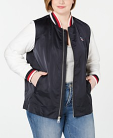 Levi's® Trendy Plus Size Colorblocked Bomber Jacket