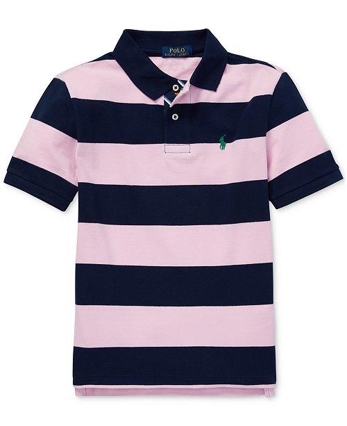 c1f1e0c927f21 Polo Ralph Lauren Big Boys Striped Cotton Mesh Polo Shirt & Reviews ...