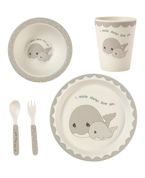 Precious Moments 5-Piece Whale Mealtime Gift Set
