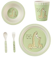 5-Piece Giraffe Mealtime Gift Set