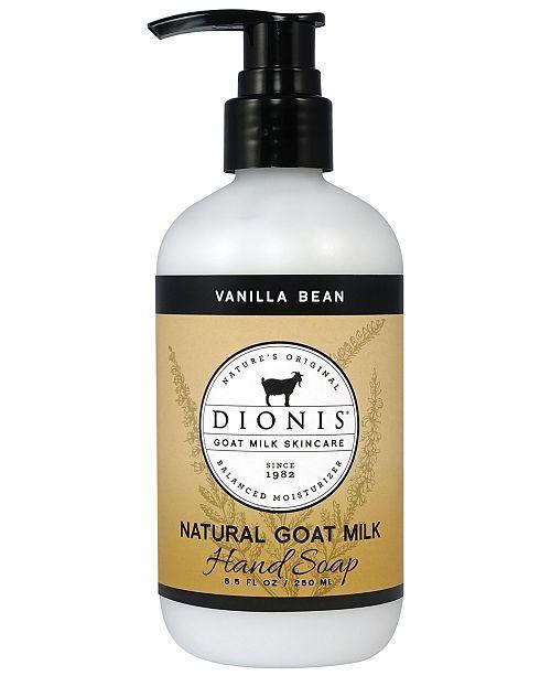 Dionis Goat Milk Hand Soap, Vanilla Bean, 8.5 oz.
