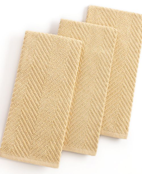 Martha Stewart Collection Taupe Kitchen Towels Set Of 3