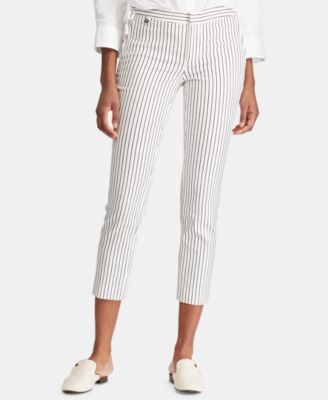 Petite Stretch Striped Skinny Pants