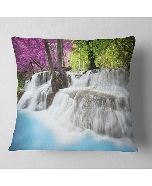 Design Art Designart Erawan Waterfall Photography Throw Pillow 26 X 26 Reviews Decorative Throw Pillows Bed Bath Macy S