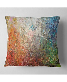 """Designart 'Board Stained Abstract Art' Abstract Throw Pillow - 26"""" x 26"""""""