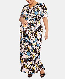 Motherhood Maternity Printed Plus Size Maxi Dress