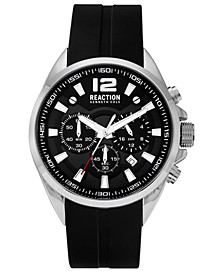 Analog Men's Black Silicone Strap Watch, 44MM