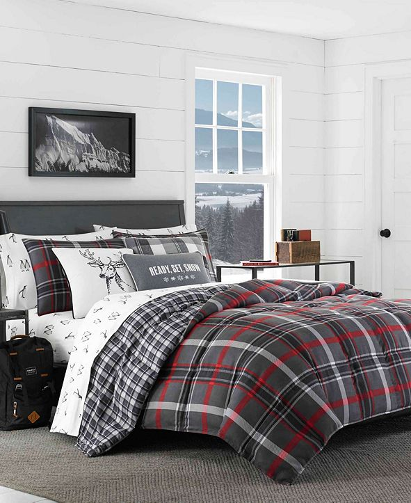 Eddie Bauer Willow Plaid Comforter Set, King