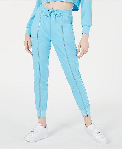 Waisted Zippered Jogger Pants