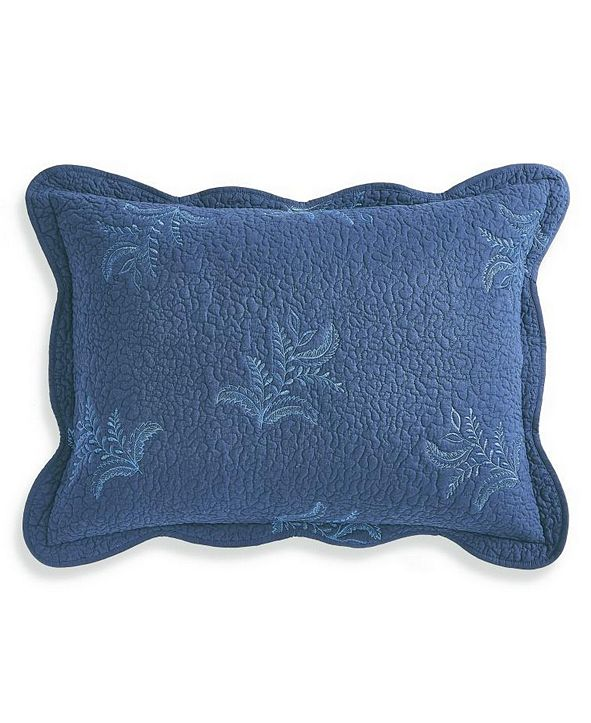 Martha Stewart Collection CLOSEOUT! Stenciled Leaves Twin/Twin XL Quilt, Created for Macy's