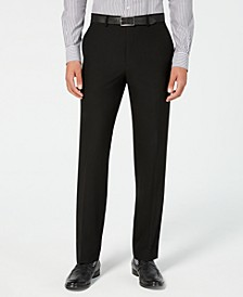 Men's Classic-Fit Stretch Wrinkle-Resistant Black Solid Suit Pants