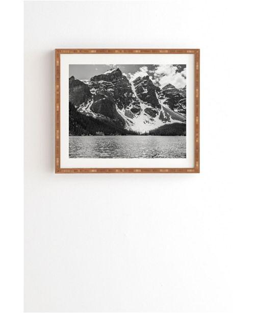 Deny Designs Moraine Lake Glacier Framed Wall Art