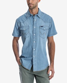 Wrangler Men's Authentic Western Short-Sleeve Shirt