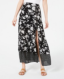 Juniors' Printed Tiered Maxi Skirt, Created for Macy's