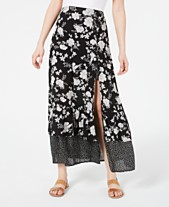 b02d066bf9 American Rag Juniors' Printed Tiered Maxi Skirt, Created for Macy's