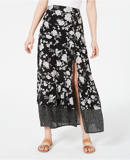 American Rag Juniors' Printed Tiered Maxi Skirt, Created for Macy's