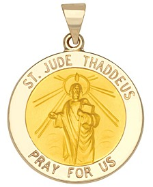 Saint Jude Medal Pendant in 14k Yellow Gold
