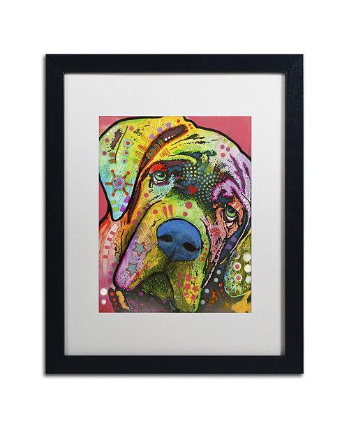 "Trademark Global Dean Russo 'Mastiff' Matted Framed Art - 16"" x 20"" x 0.5"""