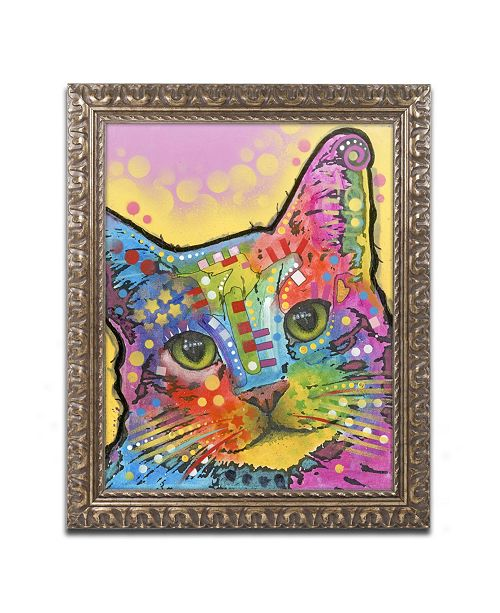 "Trademark Global Dean Russo 'Tilt Cat' Ornate Framed Art - 20"" x 16"" x 0.5"""