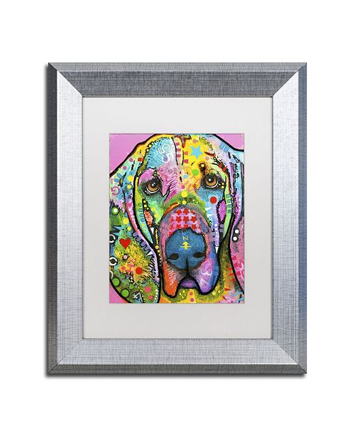 "Trademark Global Dean Russo 'Bloodhound' Matted Framed Art - 14"" x 11"" x 0.5"""