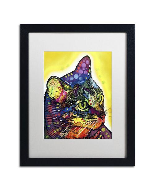 """Trademark Global Dean Russo 'Confident Cat' Matted Framed Art - 16"""" x 20"""" x 0.5"""""""