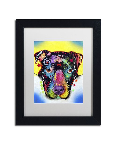 "Trademark Global Dean Russo 'Otter Pitbull' Matted Framed Art - 11"" x 14"" x 0.5"""