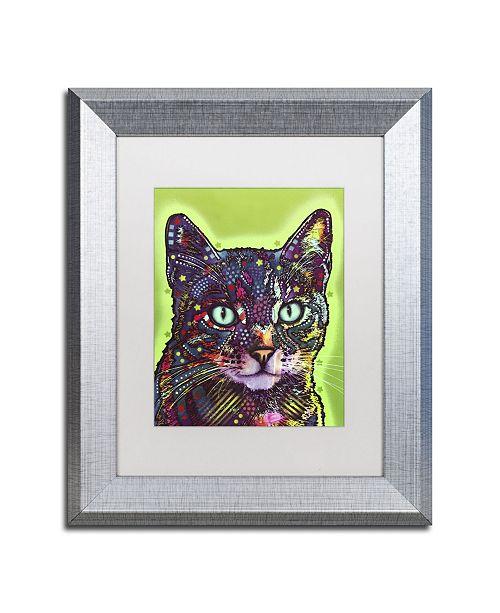 """Trademark Global Dean Russo 'Watchful Cat' Matted Framed Art - 14"""" x 11"""" x 0.5"""""""