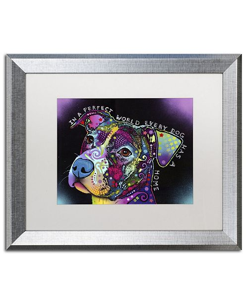 "Trademark Global Dean Russo 'In a Perfect World' Matted Framed Art - 20"" x 16"" x 0.5"""