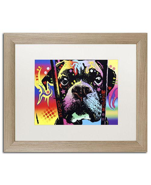 "Trademark Global Dean Russo 'Choose Adoption Boxer' Matted Framed Art - 20"" x 16"" x 0.5"""