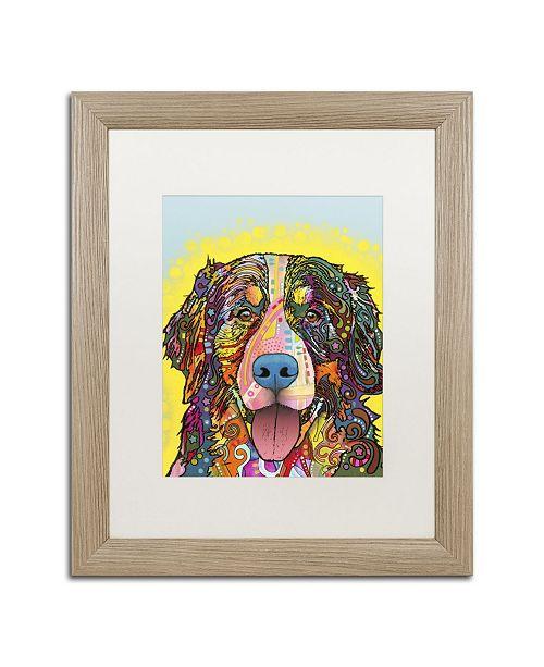 """Trademark Global Dean Russo 'Bernese Mountain Dog' Matted Framed Art - 20"""" x 16"""" x 0.5"""""""