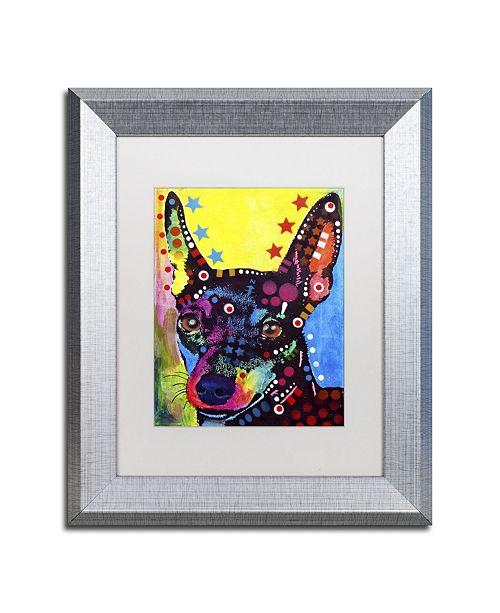 """Trademark Global Dean Russo 'Miniature Pinscher' Matted Framed Art - 14"""" x 11"""" x 0.5"""""""