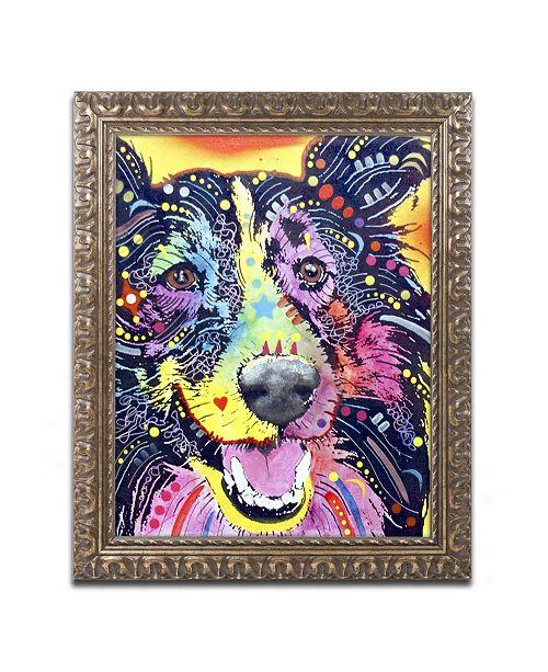 """Trademark Global Dean Russo 'Sheltie' Ornate Framed Art - 20"""" x 16"""" x 0.5"""""""