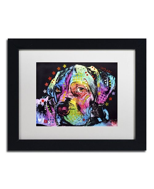 "Trademark Global Dean Russo 'Young Mastiff' Matted Framed Art - 11"" x 14"" x 0.5"""