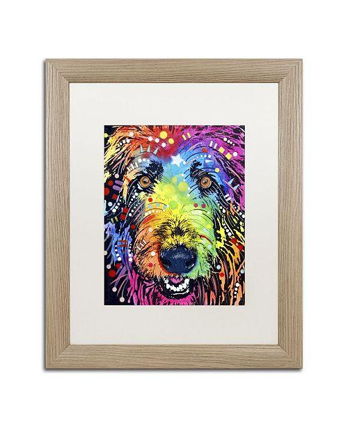 "Trademark Global Dean Russo 'Irish Wolfhound' Matted Framed Art - 20"" x 16"" x 0.5"""