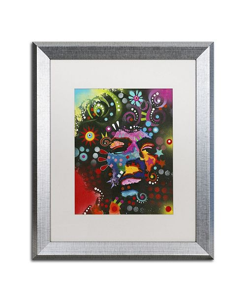 "Trademark Global Dean Russo 'Jimi Hendrix' Matted Framed Art - 20"" x 16"" x 0.5"""