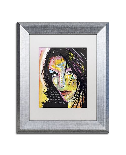 "Trademark Global Dean Russo 'Love Doesn't Live Here' Matted Framed Art - 14"" x 11"" x 0.5"""