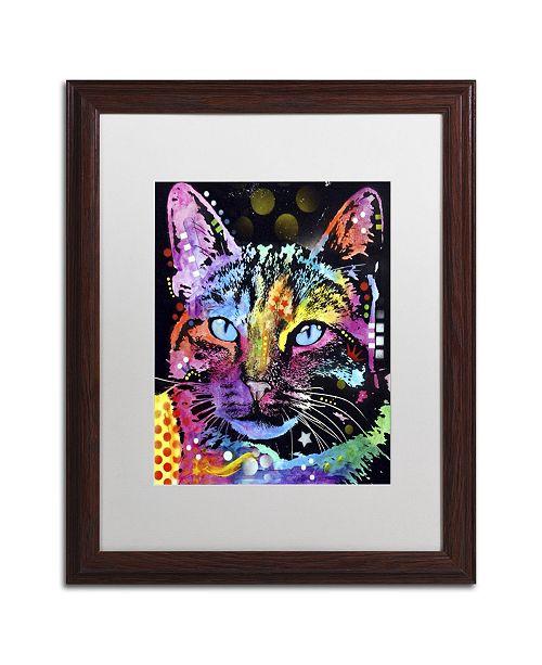 "Trademark Global Dean Russo 'Thoughtful Cat' Matted Framed Art - 20"" x 16"" x 0.5"""