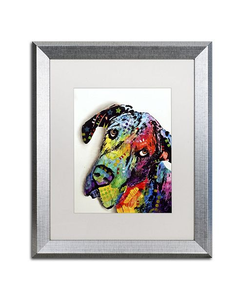 "Trademark Global Dean Russo 'Tilted Dane' Matted Framed Art - 20"" x 16"" x 0.5"""