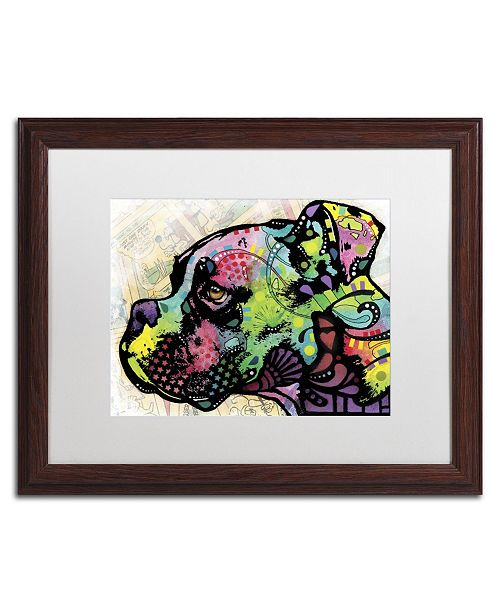 "Trademark Global Dean Russo 'Profile Boxer Deco' Matted Framed Art - 20"" x 16"" x 0.5"""