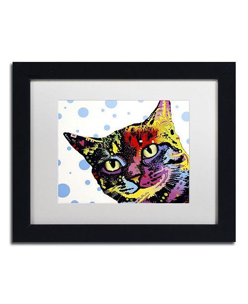 """Trademark Global Dean Russo 'The Pop Cat' Matted Framed Art - 11"""" x 14"""" x 0.5"""""""