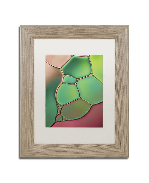 """Trademark Global Cora Niele 'Stained Glass V' Matted Framed Art - 14"""" x 11"""" x 0.5"""""""