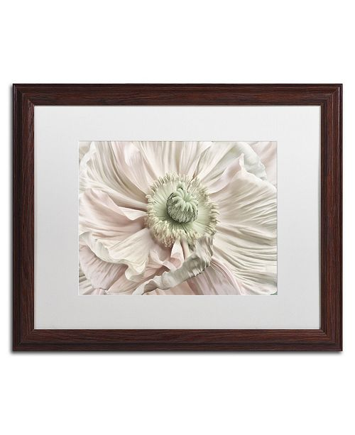 "Trademark Global Cora Niele 'Pink Poppy' Matted Framed Art - 20"" x 16"" x 0.5"""